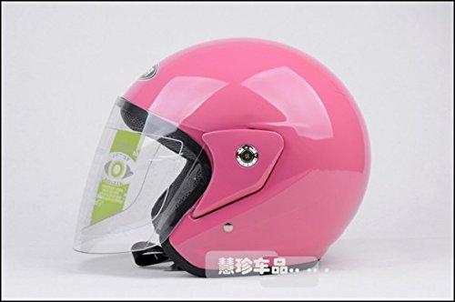 Rose Moto E-bike Full Face Flip Up Casque pare-soleil Taille gratuit