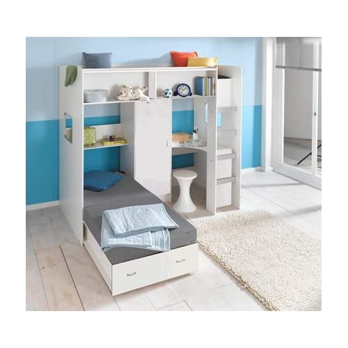 RUTLAND HIGH SLEEPER CABIN BED WHITE M1044