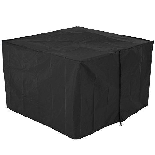Copertura per set salotto da giardino in polyrattan telo di protezione mobili giardino nero