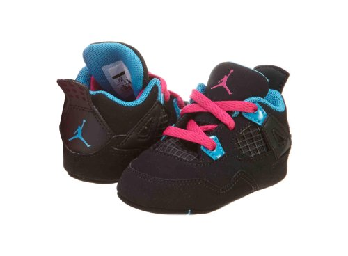 Air Jordan Crib 4 Retro (Gp) Black Pink Blue