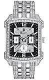 Bulova Crystal Striking Visual Design Black Dial Men's watch #96C108
