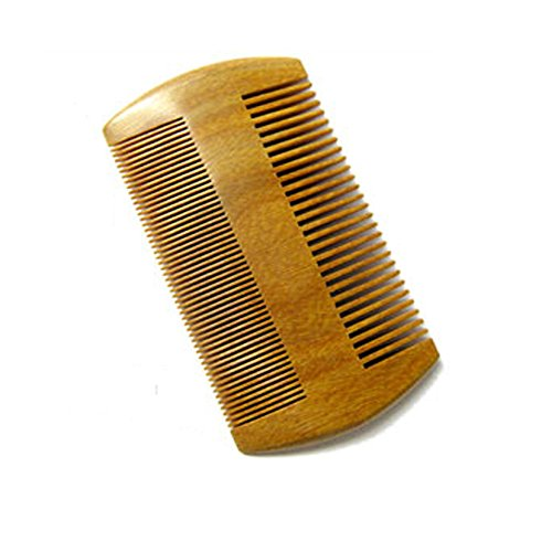 Hair Comb, Comsun Handmade Wooden Brush for Beard, Head Hair, Mustache With Anti Static No Snag Natural Wood Lightweight Brown