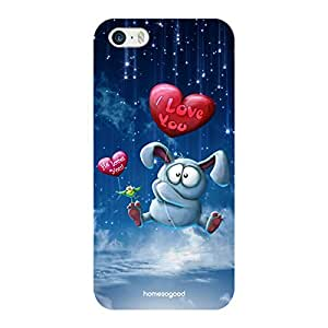 Valentine HomeSoGood Persuading The Love Blue 3D Mobile Case For iPhone 5 / 5S (Back Cover)