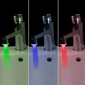 Embout Capteur de température LED 3 Couleur Evier Robinet lavabo lumière LED Faucet light