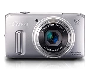 Canon PowerShot SX 240 HS Digitalkamera (12,1 Megapixel, 20-fach opt. Zoom, 7,6 cm (3 Zoll) Display, bildstabilisiert) silber