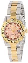 Invicta Womens 14370 Pro Diver Rose Gold Tone Dial Two Tone