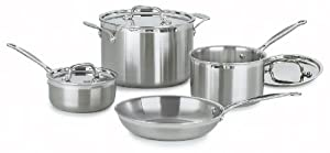 Best Cookware Set - Cuisinart MCP-7 MultiClad Pro Stainless-Steel Cookware 7-Piece Cookware Set Review