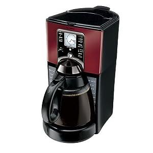 Amazon.com: Mr. Coffee FTX49 12-Cup Programmable Coffeemaker, Black/Red: Drip Coffeemakers ...