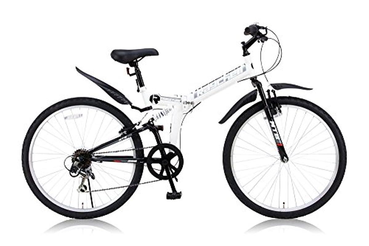 [해외] RayChell(레이첼) 26인치 접이식 산악자전거 MTB-266R 시마노6 단변속 전후 서스펜션 그립 쉬프트 V브레이크 화이트
