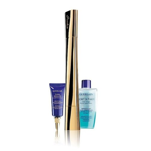 Guerlain Eye Essentials Full Size Le 2 Mascara Black & Super Aqua Eye Serum 7ml & Eye Makeup Remover 15ml