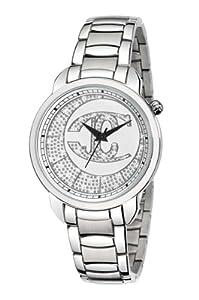 Just Cavalli r7253178645 40mm Silver Steel Bracelet & Case Mineral Men's Watch