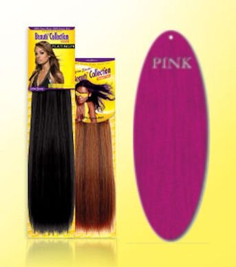Beauti-Collection-Human-Hair-Weave-Yaki-Weave-10-Pink-Size-10