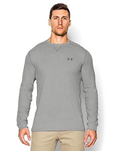 Under Armour Men's Amplify Thermal Shirt, Medium, True Gray Heather