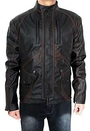 BontonWear Super Villion Sebastian Stan Bucky Barnes Faux PU Jacket (LARGE)