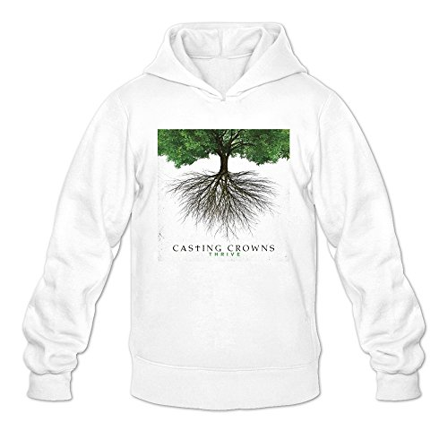 Man's Casting Crowns Thrive Album Cover Poster Hoodie White (Casting Crowns Tickets compare prices)