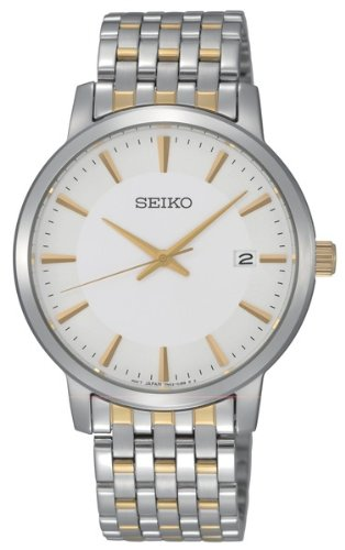 Seiko White Dial Two-tone Mens Watch SGEF91