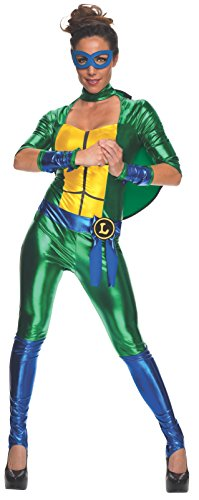Secret Wishes Women's Teenage Mutant Ninja Turtles Leonardo Costume Jumpsuit