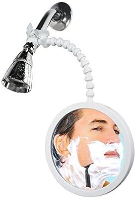 ShowerTek WV2 Fog Proof Shower Mirror for Best Shaving and Make-Up Removal