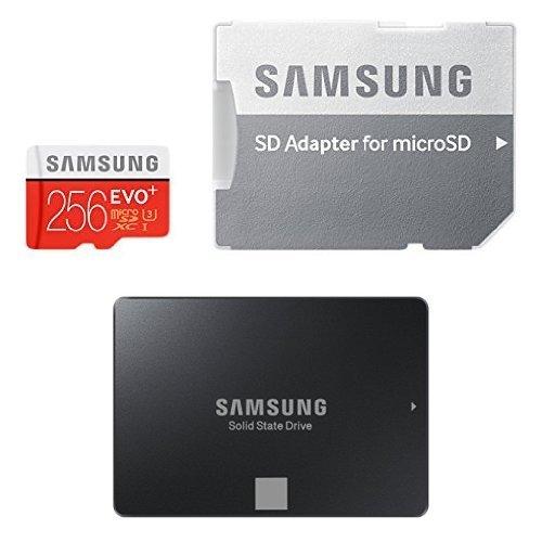 Artículo rebajado Pack de disco duro SSD de 120 GB y microSD de 256 GB Samsung EVO