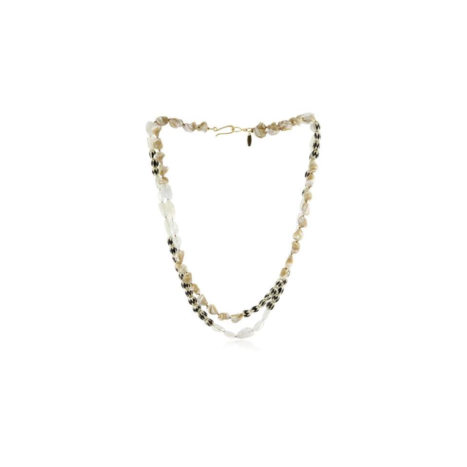 Wendy Mink Amalgam Double Strand Knotted Necklace