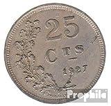 Luxemburgo km-No.. : 37 1927 muy ya Cobre-Nickel 1927 25 Centimes escudo de armas (monedas para los coleccionistas)