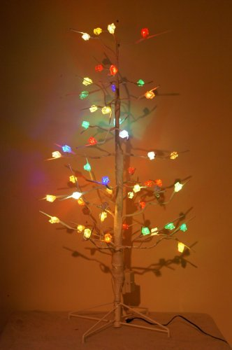 Christmas Concepts Ltd 48 Inch White Twig Tree With Colour Changing Led Ice Cubes-Fo60