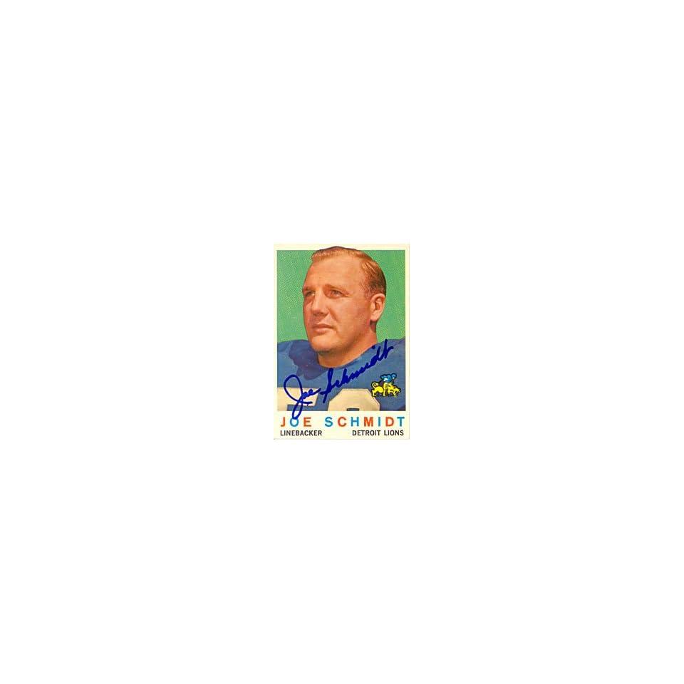Joe Schmidt Autograph/Signed Card