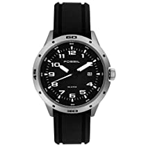 Fossil Watches Sale - Fossil Men's Black Rubber Watch #AM4239