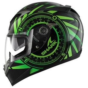 HE0956EKGYXL - Shark S900-C Hedge Motorcycle Helmet XL Green (KGY)