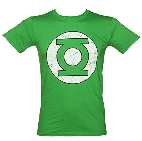 男性の緑のビンテージ苦しめられた DC のコミック緑のランタンの t シャツ