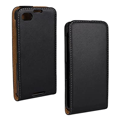 Blackberry Z30 Case, LU2000 High-end Flip Case Genuine Real Leather Up&Down Open Phone Case Shell Cover Black Color Fit for Blackberry Z30 AT&T Verizon & Sprint from All Carrier from LU2000