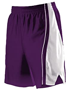 Buy Alleson 547PW Women s Dazzle Basketball Shorts PU WH - PURPLE WHITE WXL