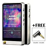 HiBy R6 Portable High Resolution Audio Player Hires Music Player Bluetooth Mp3 Player HiFi Music Player (Stainless Steel) with Free 2.5mm to 4.4mm Adaptor