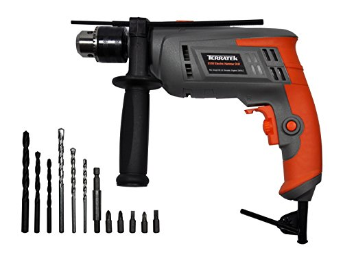 415l2gdlkxL - BEST BUY #1 Terratek 810W Hammer Drill, Powerful Variable Speed Electric Drill Complete with 13pc Drill Bit Set