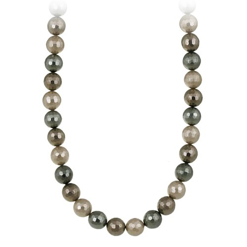 Bronze Ombre Faceted Shell Pearl Necklace, 16 + 3