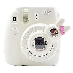 [Fujifilm Instax Mini 8 Selfie Lens] -- Lalonovo Rabbit Style Instax Close Up Lens with Self-portrait Mirror for Fujifilm Instax Mini 8 Instant Film Camera (White)