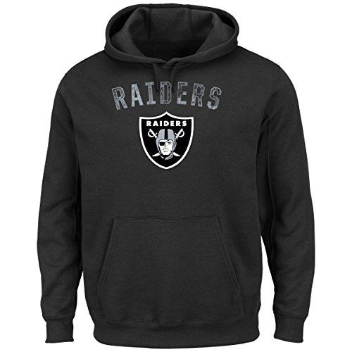 Oakland Raiders Kick Return Pullover Hooded Sweatshirt Small