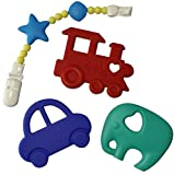 Teething-Toys-PLUS-Pacifier-ClipTeether-Holder-BPA-Free-FDA-Approved-Teether-Soothing-Pain-Relief-for-Baby