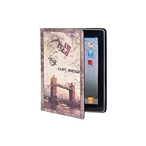 Euroge Tech Retro Stamp Overpass Pattern PU Leather Protective Case for the new iPad / iPad 2 / iPad 3