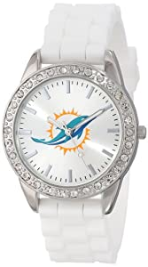 Game Time Ladies NFL-FRO-MIA Frost NFL Series Miami Dolphins 3-Hand Analog Watch by Game Time