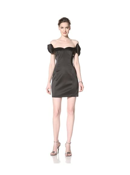 ABS by Allen Schwartz Women's Off Shoulder Bow Dress