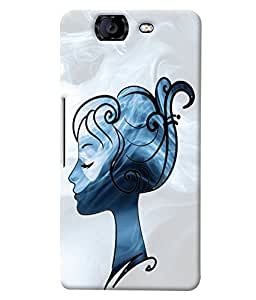 Fuson Cute Girl Back Case Cover for MICROMAX A350 CANVAS KNIGHT - D3662