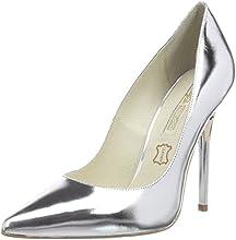Buffalo London  11335X-269 SPECHIO, Chaussures à talons - Avant du pieds couvert femmes - Argent - Silber (LUMIERE 01), Taille 37 EU