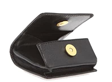 Visconti-polo 421 Genuine Quality Leather Change or key Holder / Coin Purse Pouch Tray (Black)