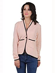 Cherymoya Women's Cotton Jersey Jackets (CM-1400655_Peach__X-Large)