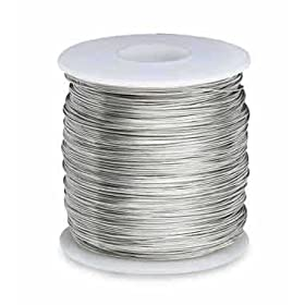 """Tinned Copper Wire, Annealed, 1lb Spool, 16 AWG, 0.0508"""" Diameter, 126' Length (Pack of 1)"""