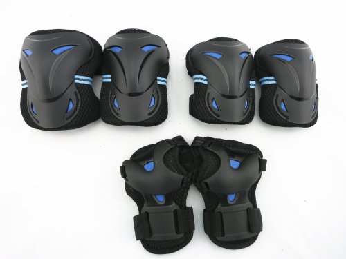 Review Of Child / kid Sports Protective Gear Safety Pad Safeguard Knee Elbow Wrist Support Pad Set E...