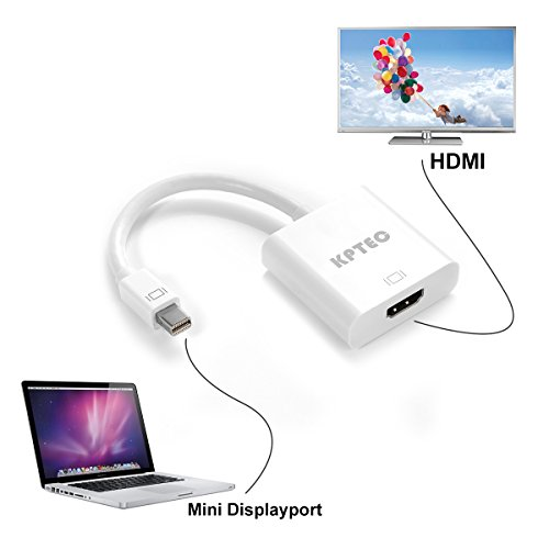 Kptec mini displayport thunderbolt to hdmi adapter for for Mini projector for macbook
