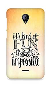 AMEZ its kind of fun to do the impossible Back Cover For Micromax Unite 2 A106