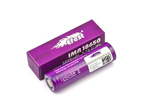 1-Efest-18650-3000mAh-Li-ion-Battery-35A-discharge-Unprotected-Flat-Top
